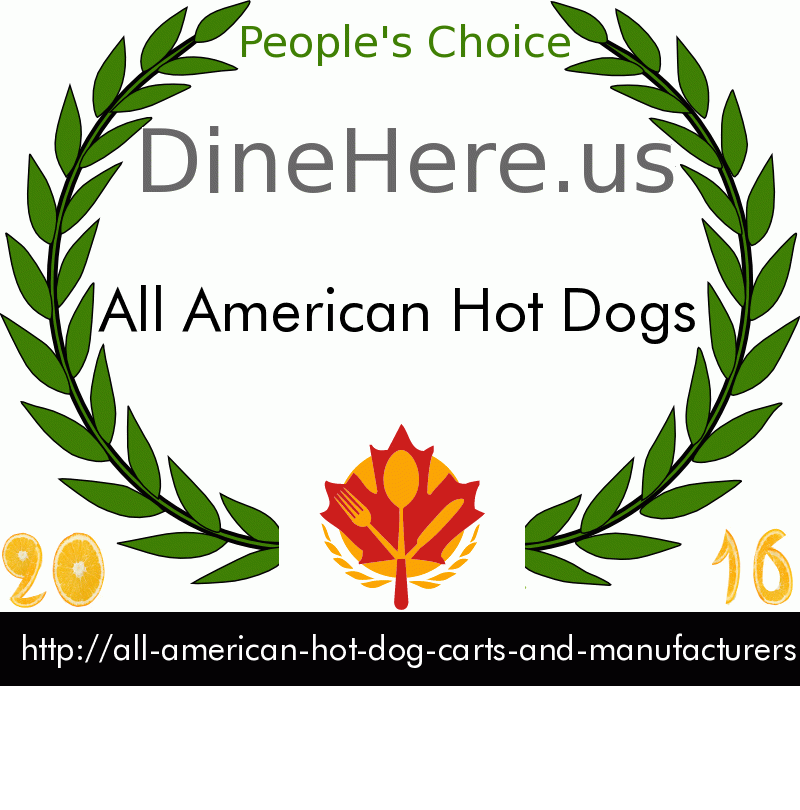 All American Hot Dogs DineHere.us 2016 Award Winner